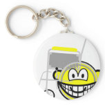 Wheelchair buddy icon Side view  keychains