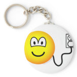 Plugged in emoticon   keychains
