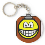 Clipboard smile   keychains