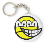 Two faced smile   keychains