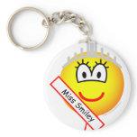 Miss emoticon   keychains