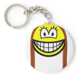 Long haired smile   keychains