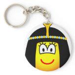 Cleopatra emoticon   keychains