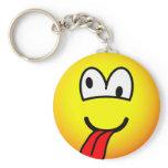 Crazy emoticon   keychains