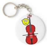 Contra bass playing buddy icon   keychains