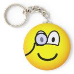 Monocle emoticon   keychains