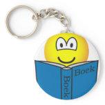 Reading emoticon   keychains