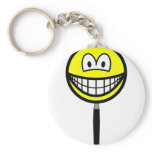 Magnifying glass smile   keychains
