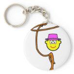 Cowgirl buddy icon lasso  keychains