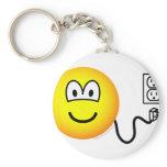 Unplugged emoticon Sad  keychains