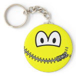 Zipped up smile   keychains
