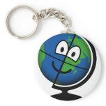 Globe emoticon   keychains