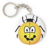 Ladybird emoticon   keychains