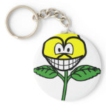 Pansy smile   keychains