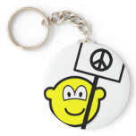 Ban the bomb buddy icon   keychains