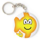 Pisces emoticon Zodiac sign  keychains