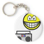 Boom box radio smile   keychains