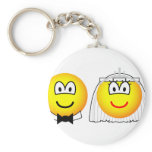 Royal wedding emoticon William and Kate  keychains