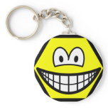 Hexagon smile   keychains