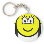 Black haired buddy icon   keychains