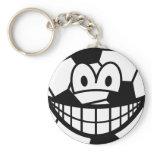 Soccer ball smile   keychains