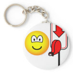 Queueing emoticon take a number  keychains