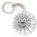 Spiderweb emoticon   keychains