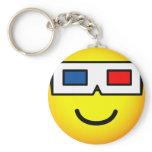 3D bril emoticon   keychains