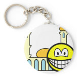 Mosque going smile   keychains