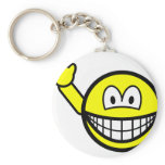 Bye smile waving  keychains