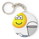 Cleaning emoticon   keychains