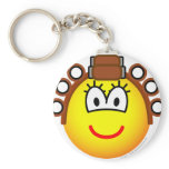 Curling emoticon Permed  keychains
