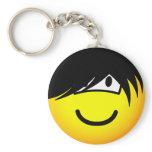 Emo emoticon   keychains