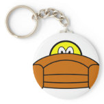 Scared smile Hiding behind couch  keychains