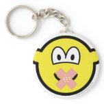 Zwijgende buddy icon   keychains