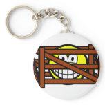Fenced in smile   keychains