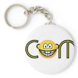 Dot com emoticon   keychains