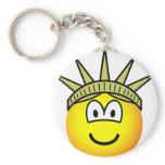 Emoticon of liberty   keychains