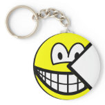 Pac Man smile   keychains