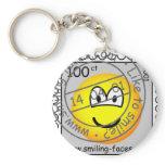 Stamped stamp emoticon   keychains