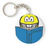 Reading smile   keychains