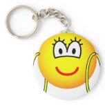 Big hoop earrings emoticon   keychains