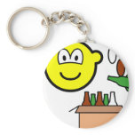Bottle bank buddy icon Recycling  keychains