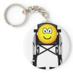 Wheelchair emoticon   keychains