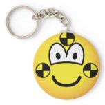 Crash test dummy emoticon   keychains
