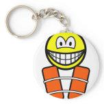 Life jacket smile   keychains