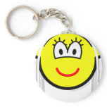 White haired buddy icon   keychains