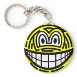 Finger print smile   keychains