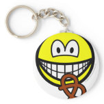 Pretzel eating smile   keychains