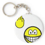High five smile   keychains